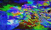 抽象手绘油画