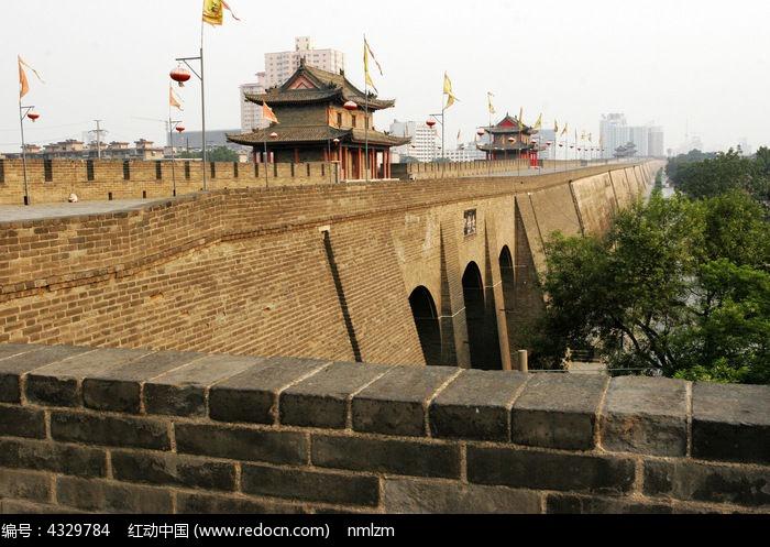 西安古城墙风姿图片,高清大图