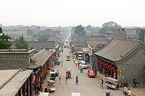 平遥古城街道的情景