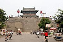 平遥古城墙的城楼