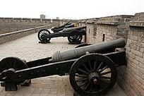 平遥古城墙瓮城的抗敌火炮