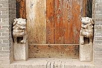 平遥古民居的门礅