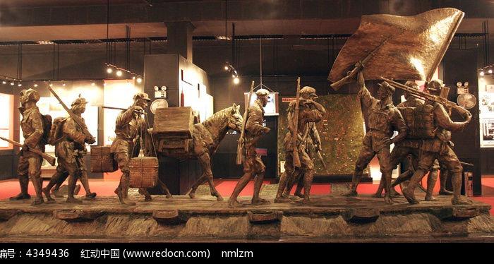 红军行军雕塑