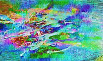 抽象装饰现代无框画