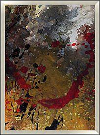 玄关抽象装饰油画