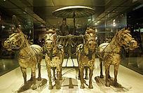 秦始皇乘坐的铜马车