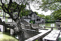 苏州木渎古镇的小桥