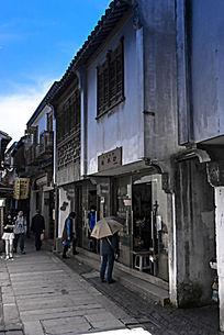 苏州木渎古镇上的街边店铺