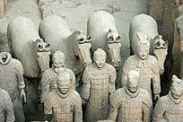 西安兵马俑和陶马