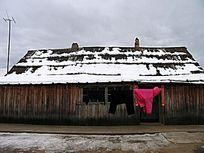 边境村庄木刻楞房子