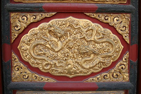 故宫中和殿门檐饰金龙