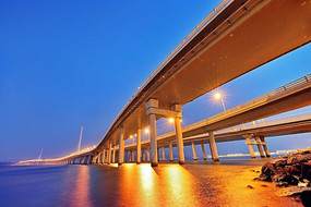 深圳湾大桥之夜