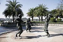 厦门滨海公园民族人物雕塑