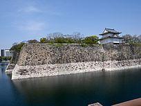大阪城墙上角楼