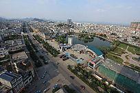 罗平鸟瞰城市城市高清摄影