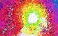 色彩涂鸦墙