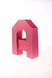 纯手工制作纸模字母A