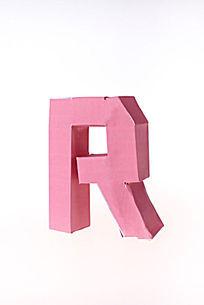 人工制作纸模字母 R