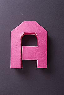 手工制作纸模字母A
