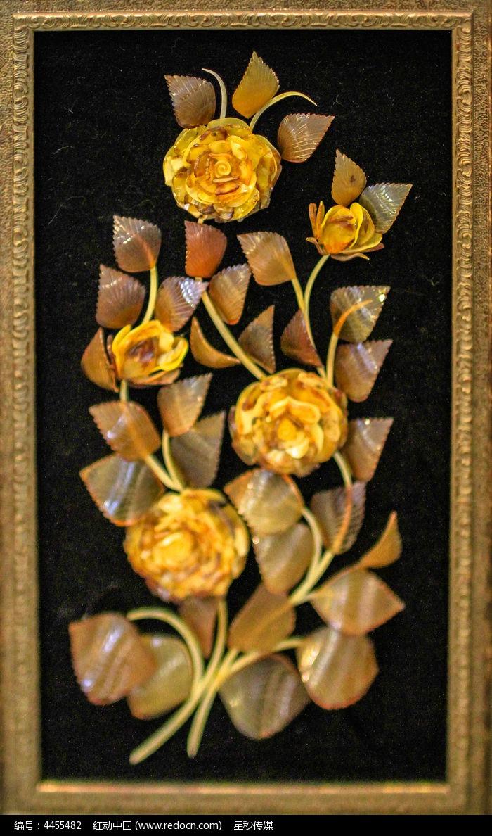 俄罗斯成人素画_艺术文化 传统工艺 一帽精致漂亮的俄罗斯琥珀花朵画  请您分享: 素材
