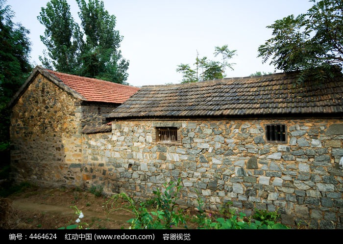 農村老式瓦房圖片