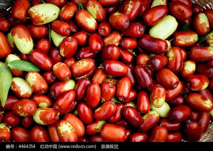 新鲜的大红枣