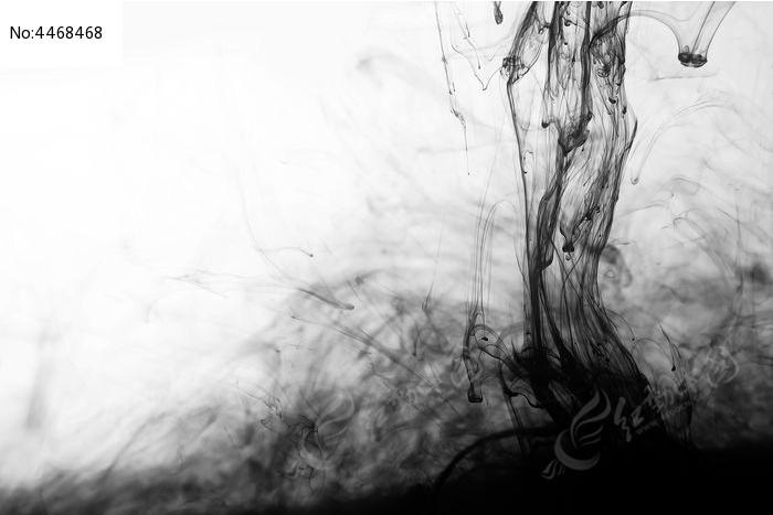 大气的水墨黑白背景图片