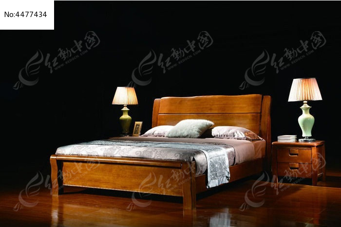 床 胡桃木实木床图片