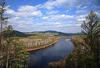 大兴安岭森林河风景