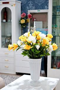 黄色插花艺术