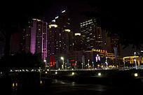 海滨城市夜景