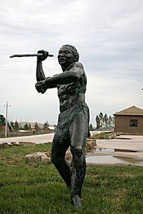 哈克先民狩猎雕塑