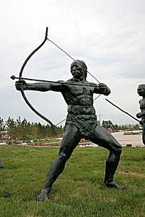 哈克先民射箭雕塑