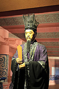 汉武帝养马官金日磾蜡像