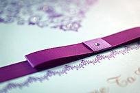 婚礼道具紫色丝带