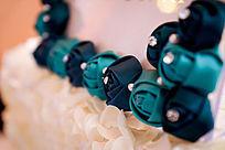 婚礼现场布艺花卉相框