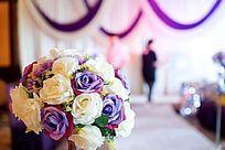 婚礼现场布置的花球