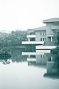 景观园林中的水岸建筑
