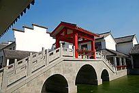 水乡特色三孔桥