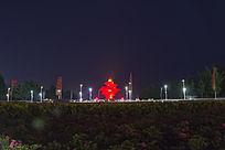 五四广场夜景