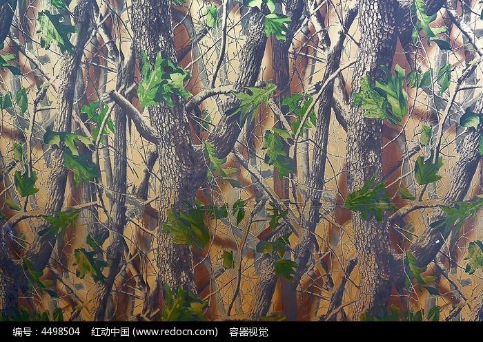 立体树木底纹壁纸高清拍摄