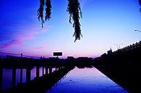 傍晚时分的弥河