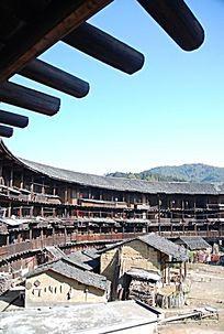 福建土楼屋檐木结构