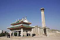 集美解放纪念碑和陈嘉庚墓