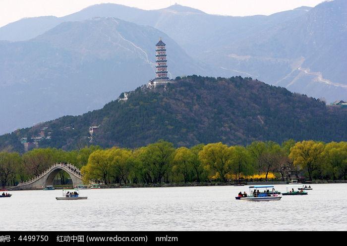 北京玉泉山宝塔图片