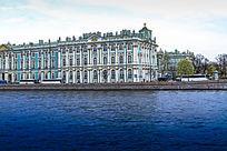 俄罗斯建筑物和俄罗斯河道