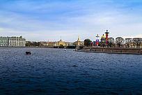 俄罗斯内河海港风光