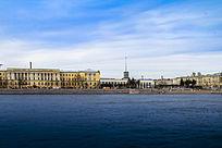 俄罗斯圣彼得堡莫斯科金环小镇港口景观