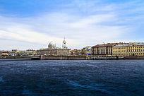 国外城市建筑物和城市河道
