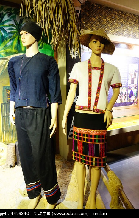 黎族服装展示图片